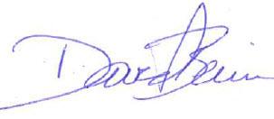 Director David Beirne Signature