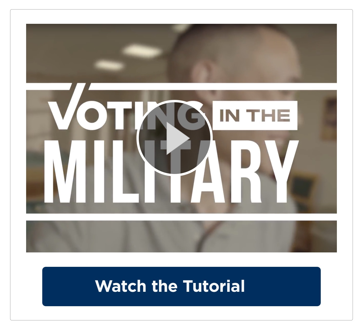 Active Duty Military Training Video