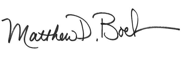 Matt Boehmer Signature